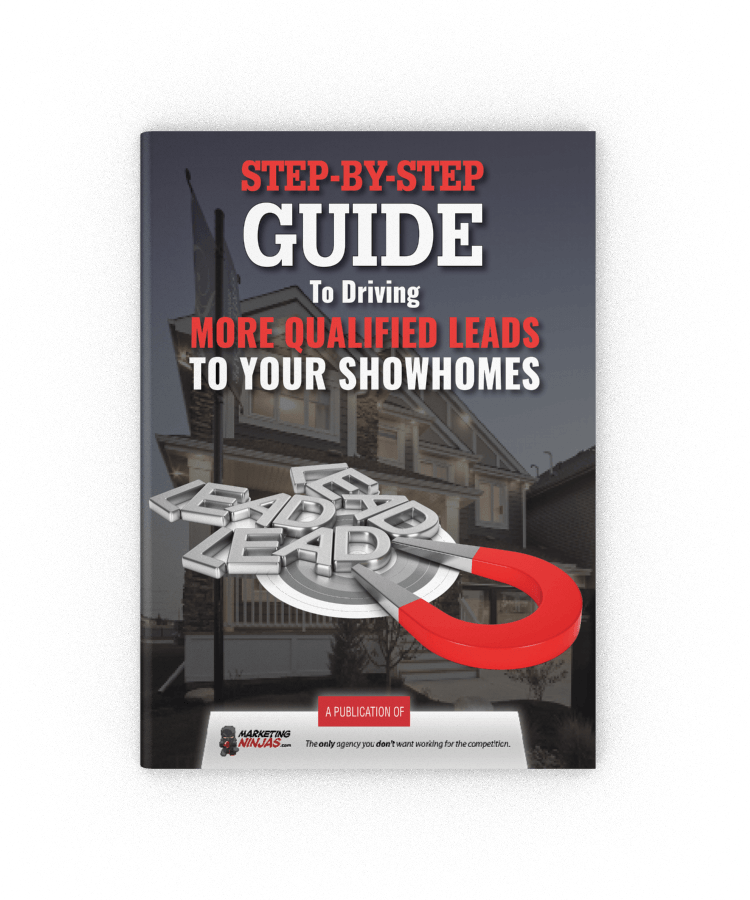 Step-by-Step Guide to Driving More Qualified Leads to Your Showhomes eBook Cover Image