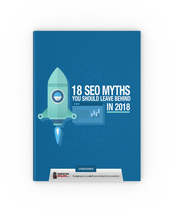 18 SEO Myths You Should Leave Behind in 2018 eBook Cover Image